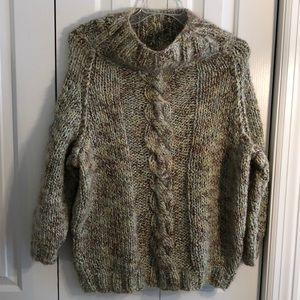 Beautiful homemade handmade knit oversized sweater